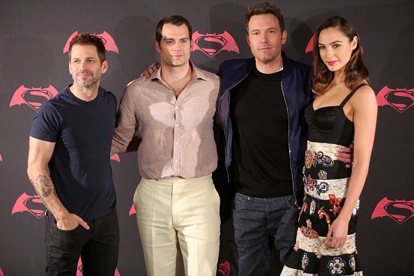 Zack Snyder, Henry Cavill, Ben Affleck, and Gal Gadot