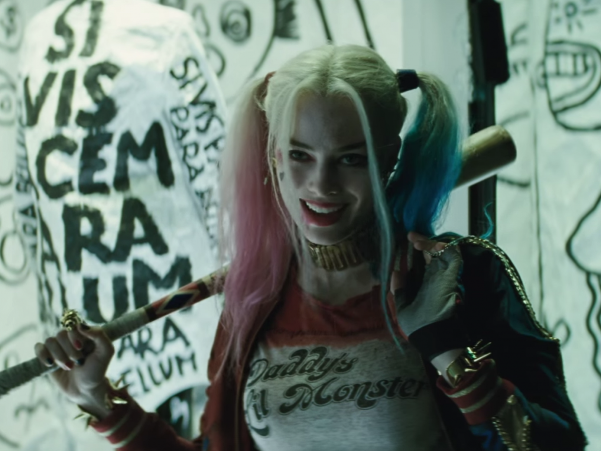 Margot Robbie Tried On Court Jester Costume For 'Suicide Squad'
