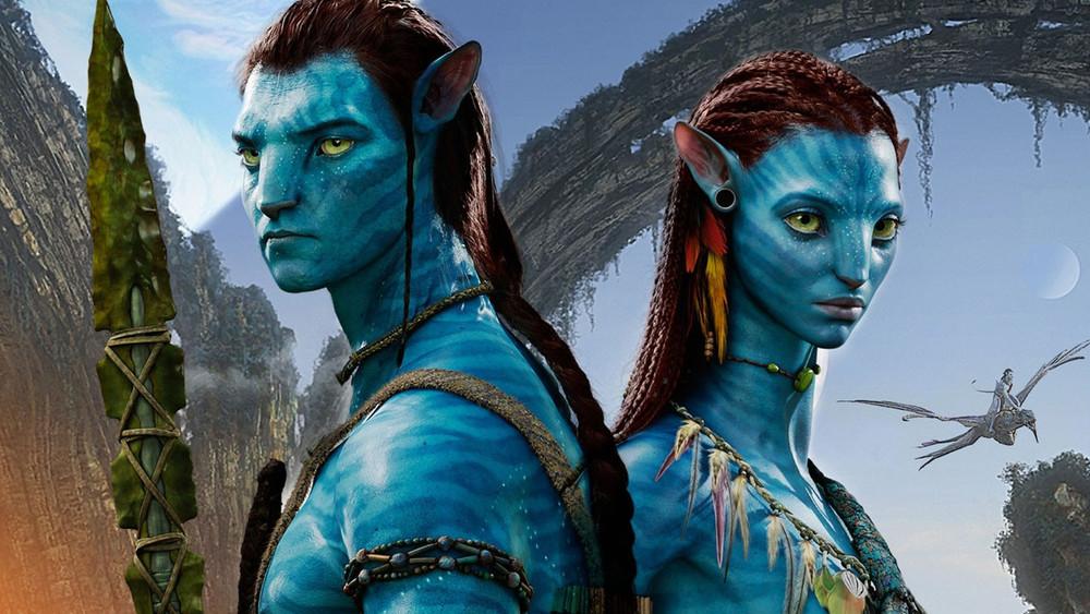 Jake Sully and Neytiri Avatar art poster
