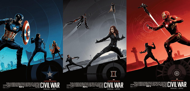Captain America Civil War promo IMAX posters