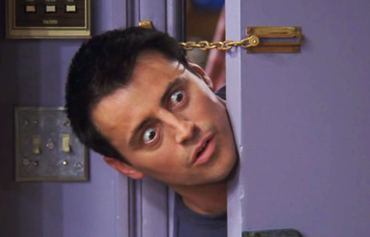 joey, friends, matt leblanc, omg, surprised, reaction, door