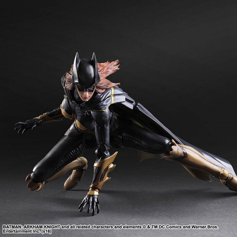 Batgirl Arkham Knight figure stealth black gold armor crouching