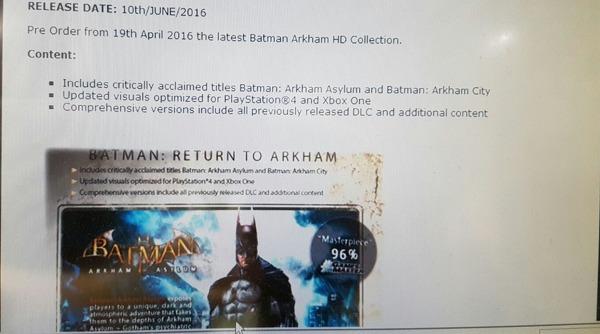 Batman Arkham Anthology