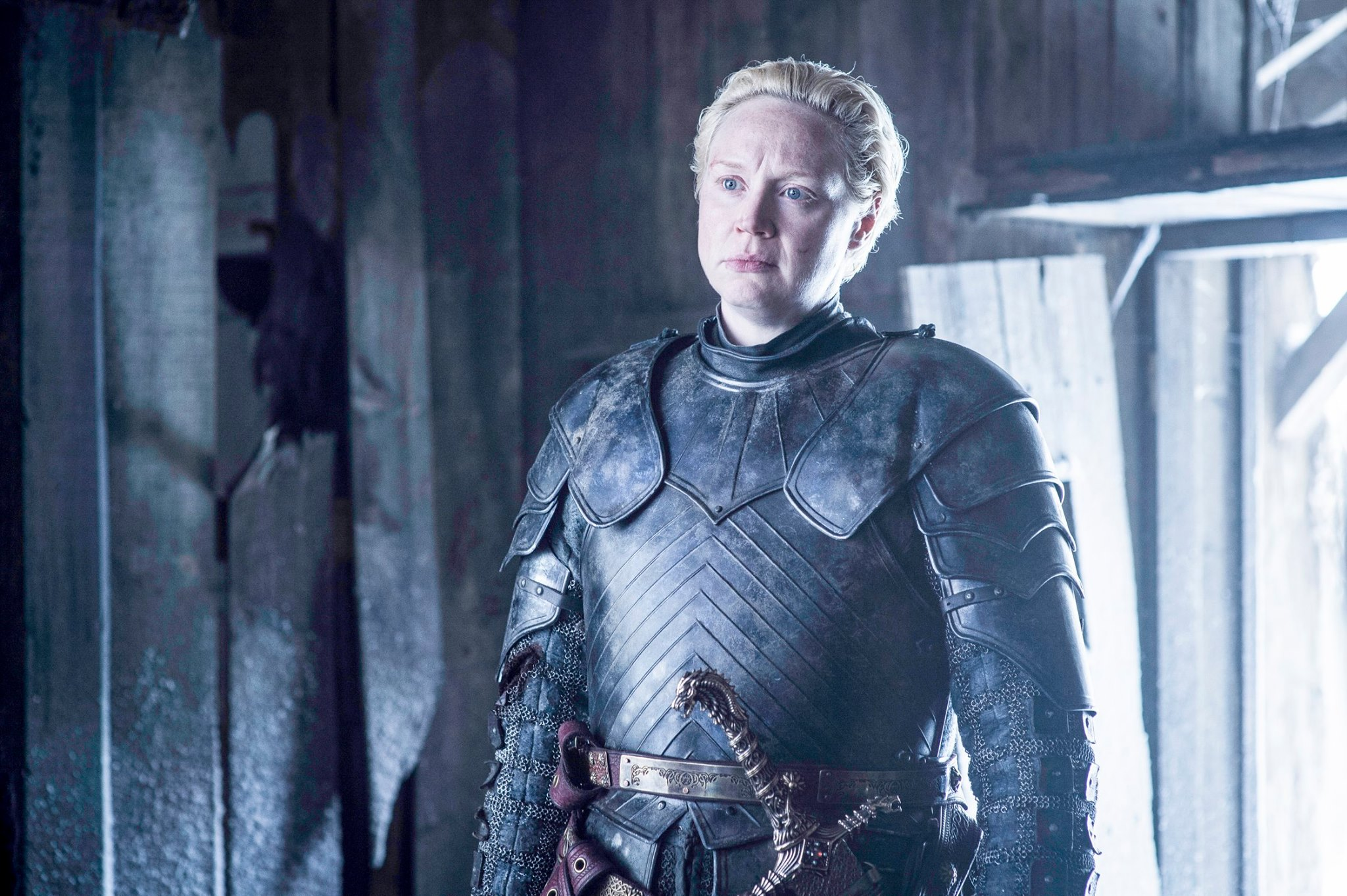 Gwendoline Christie as Brienne of Tarth Game of Thrones