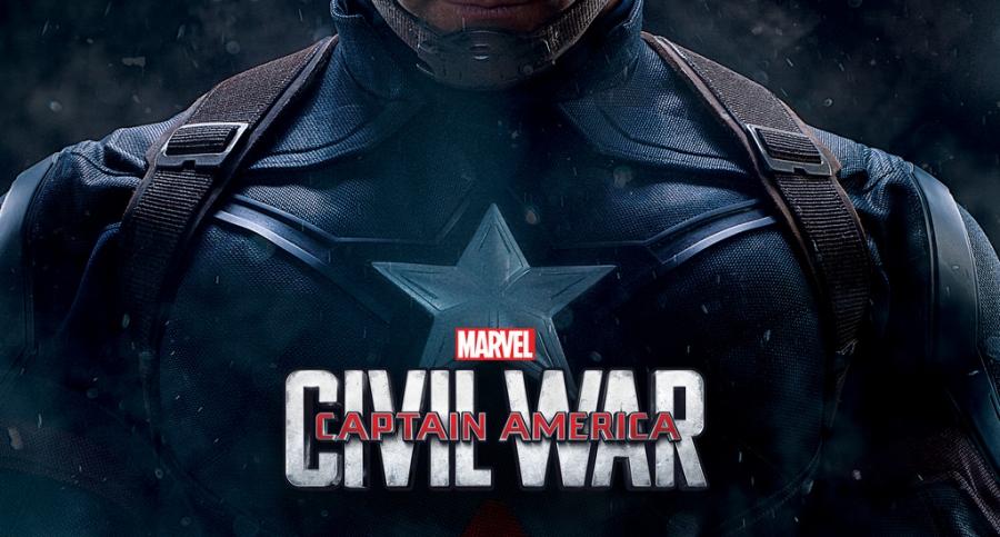 Captain America star on chest Civil War