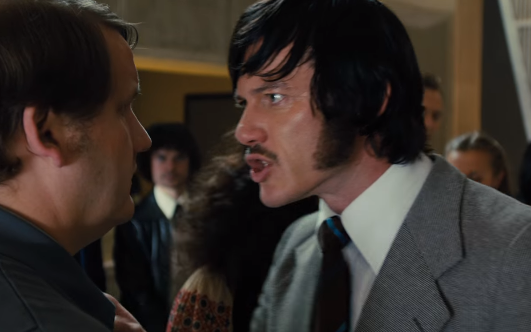 Luke Evans sideburns in High Rise