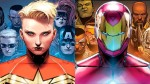 Civil War II comic with Captain Marvel and Iron Man