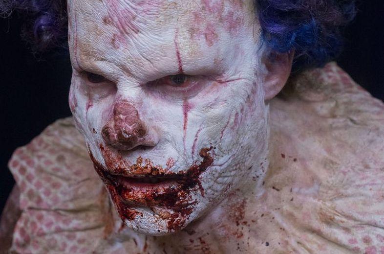 Eli Roth Clown makeup