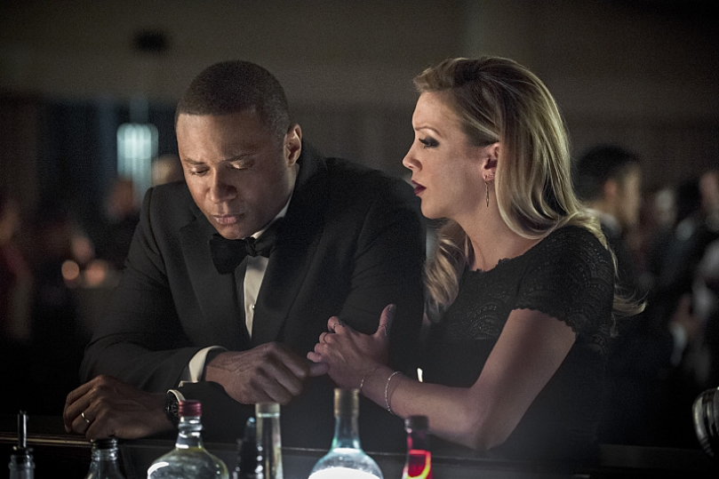 Diggle and Laurel on Arrow