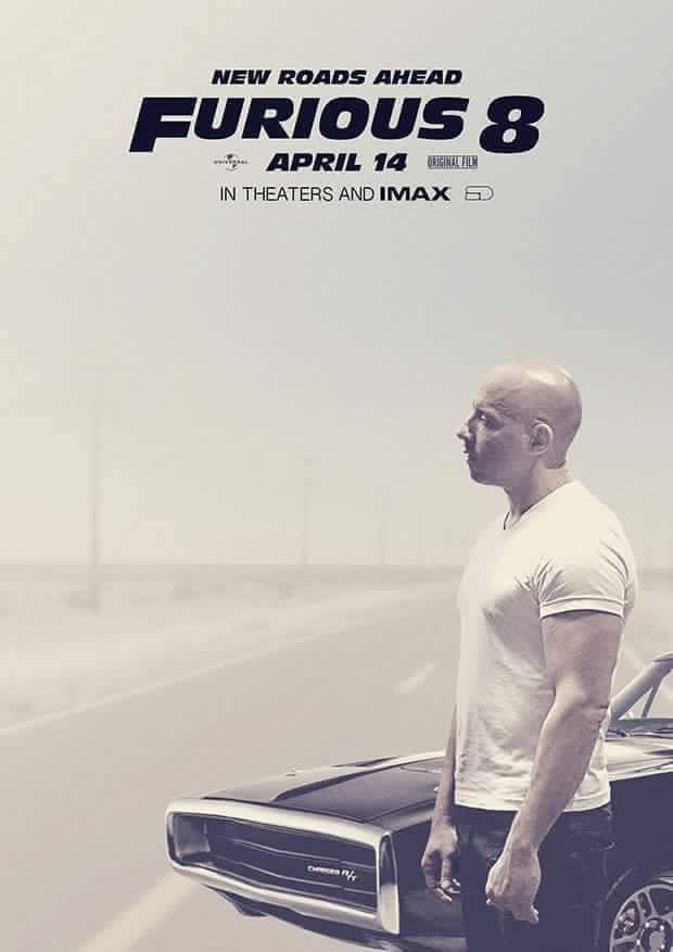 furious 8, vin diesel, poster, paul walker, dom toretto