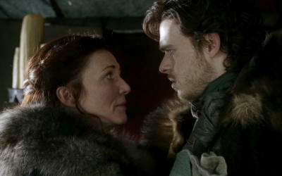 Game of Thrones Catelyn Stark and Robb Stark talking