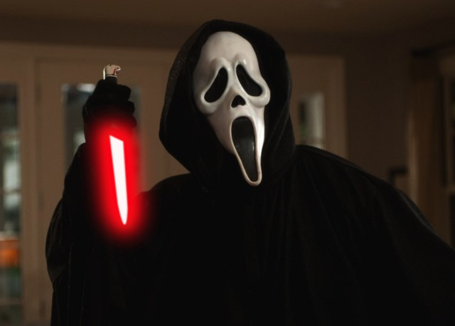 Ghostface with a Lightsaber