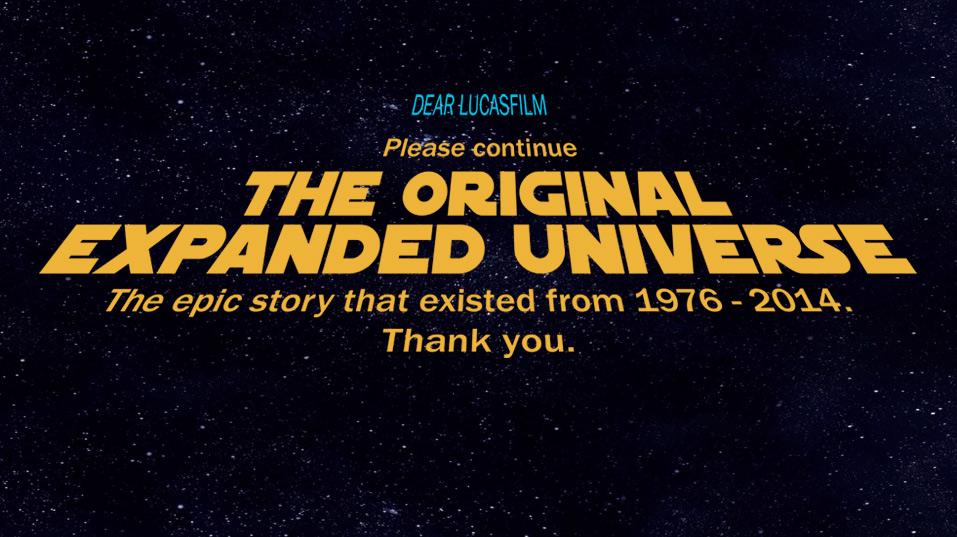 Star Wars fan billboard Original Extended Universe