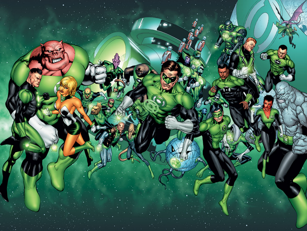 Green Lantern Corps all gathered together