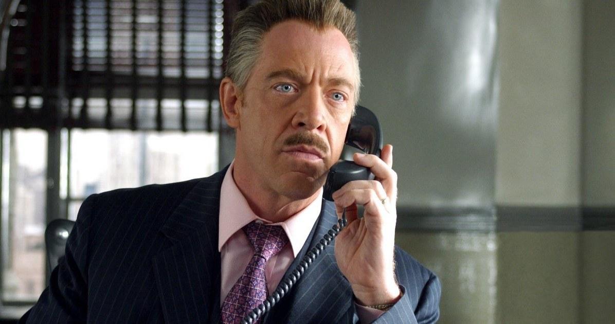 JK Simmons on phone as J. Jonah Jameson