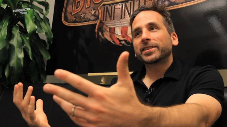 Ken Levine black shirt hands