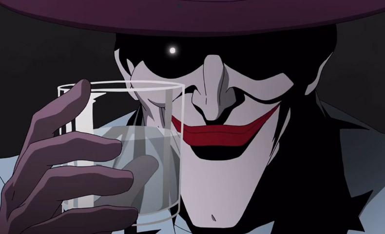 killing joke Joker with glass