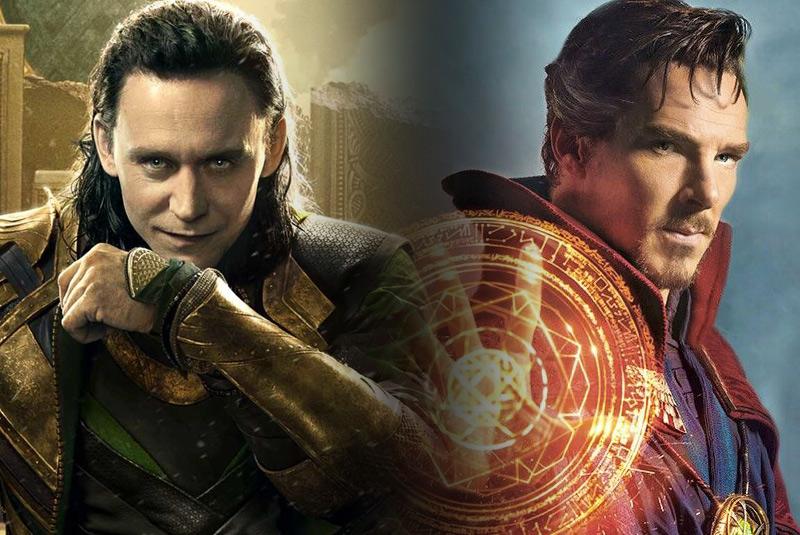 Tom Hiddleston as Loki vs. Benedict Cumberbatch as Doctor Strange wants to fight