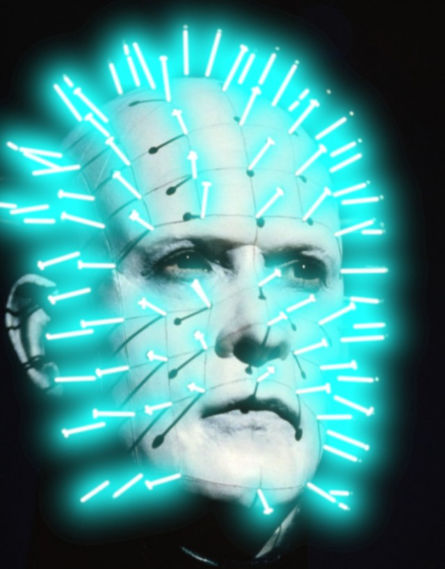 Pinhead with Lightsaber... needles