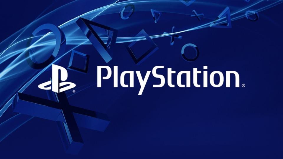 PlayStation logo blue background