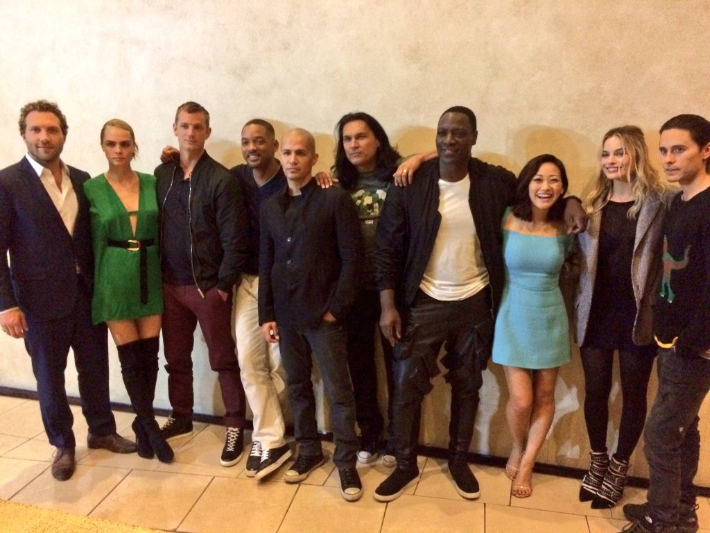 Davide Ayer directed Suicide Squad Cast at CinemaCon
