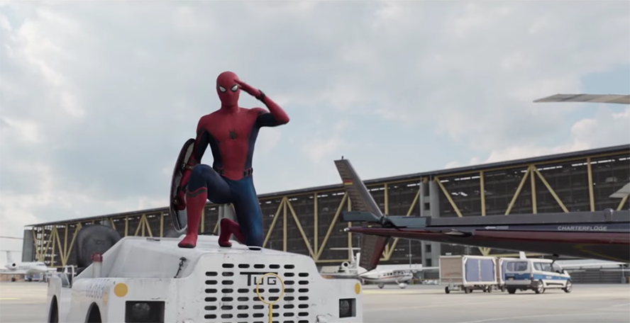 Tom Holland Spider-Man Salute