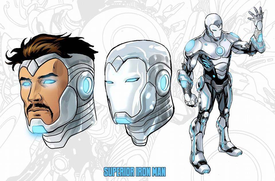 White Iron Man suit in Superior Iron Man