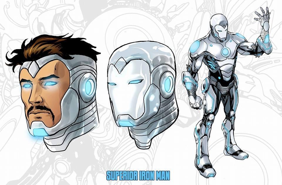 White Iron Man suit in Superior Iron Man