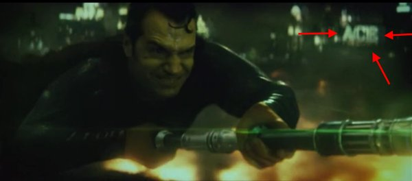 Superman kryptonite spear ACE chemicals in background
