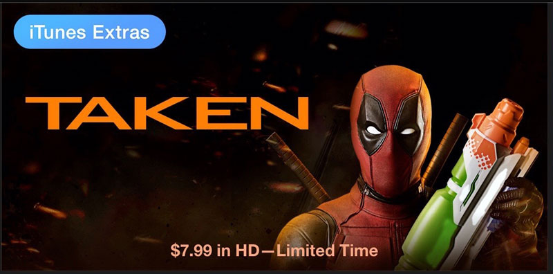 iTunes Deadpool Taken