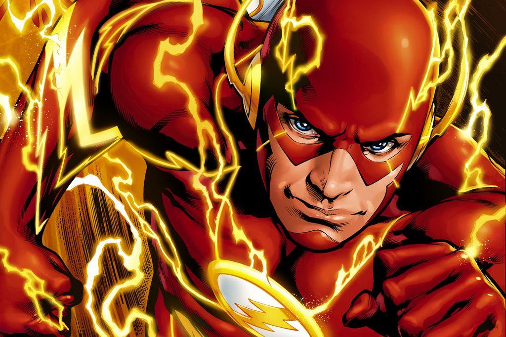 The Flash art lightning
