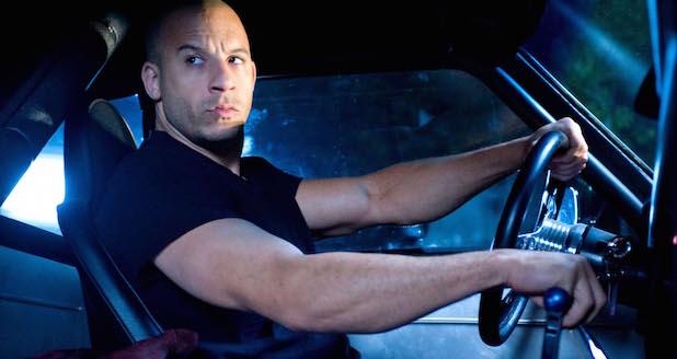 Vin Diesel in car Fast & Furious
