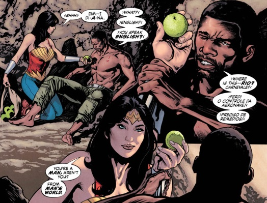 Wonder Woman and Steve Trevor in Earth One, Morrison's WW Earth One