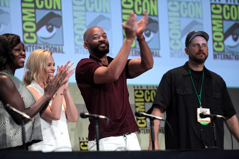 Will Smith, Margot Robbie, Viola Davis at SDCC Hall H clapping