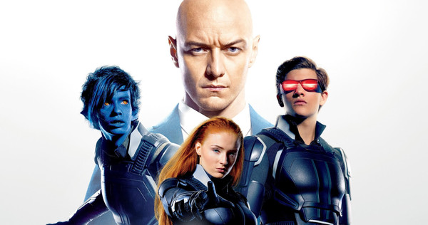 X-Men Apocalypse with Nightcrawler, Cyclops, Jean Grey and Professor X