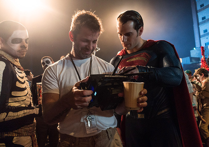 WB Zack Snyder and Superman on BvS set