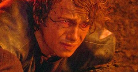 anakin, skywalker, star wars, revenge of the sith, anakin burning, anakin lava, darth vader