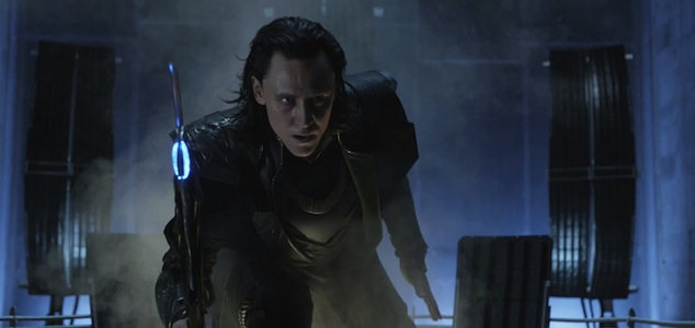 Loki with scepter in Avengers