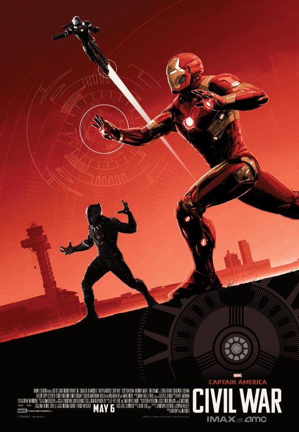 captain america, civil war, poster, graphic art, IMAX, AMC, iron man