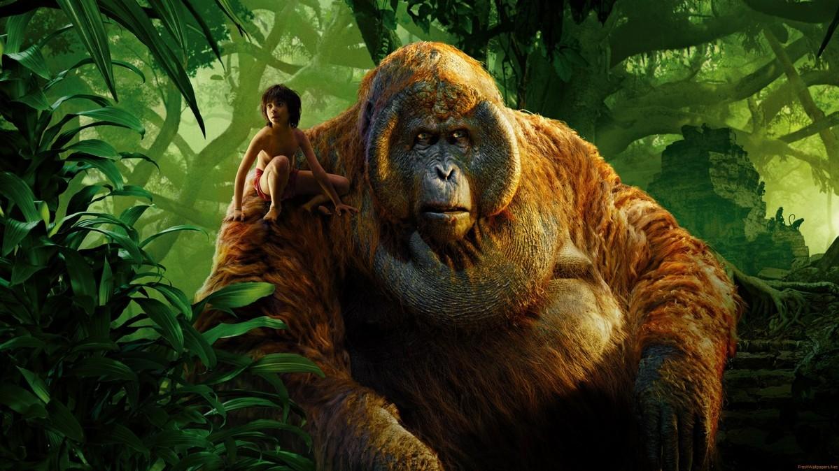 King Louie and Mowgli in Jungle Book