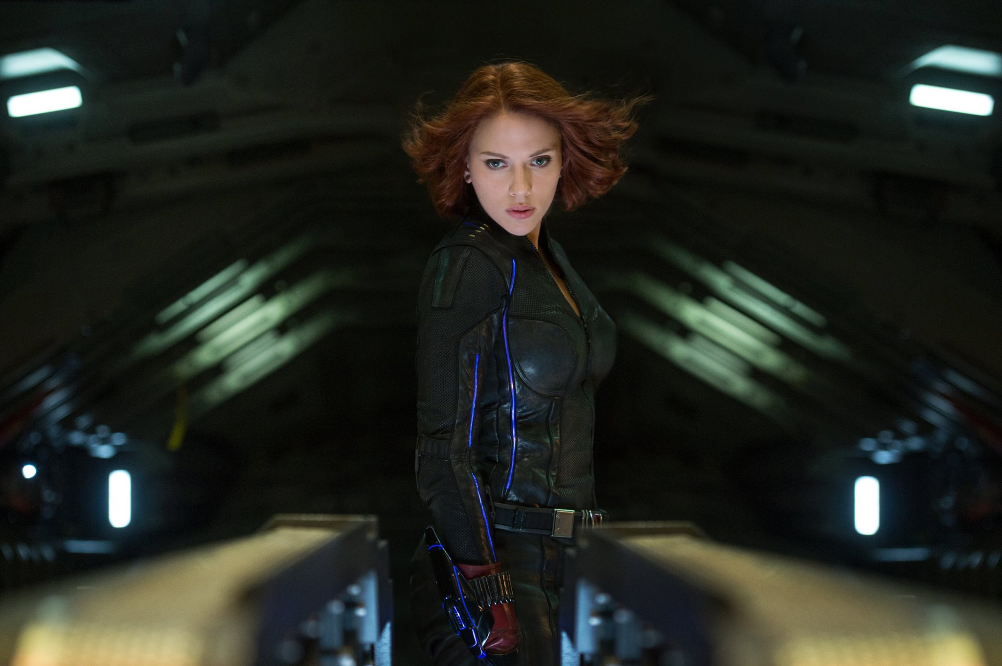 Scarlett Johansson as Black Widow in Avengers Age of Ultron