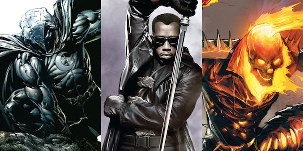 Netflix, Blade, Ghost Rider, Moon Knight