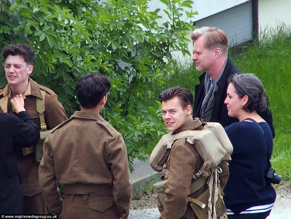 Harry Styles short hair in Dunkirk