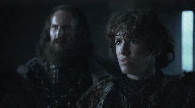 Rickon Stark and Smalljon Umber in Winterfell Season 6