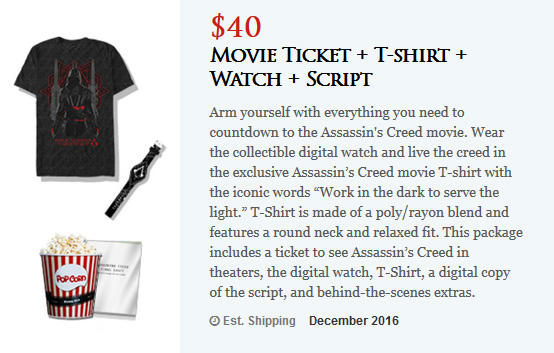AC movie pre order watch and shirt