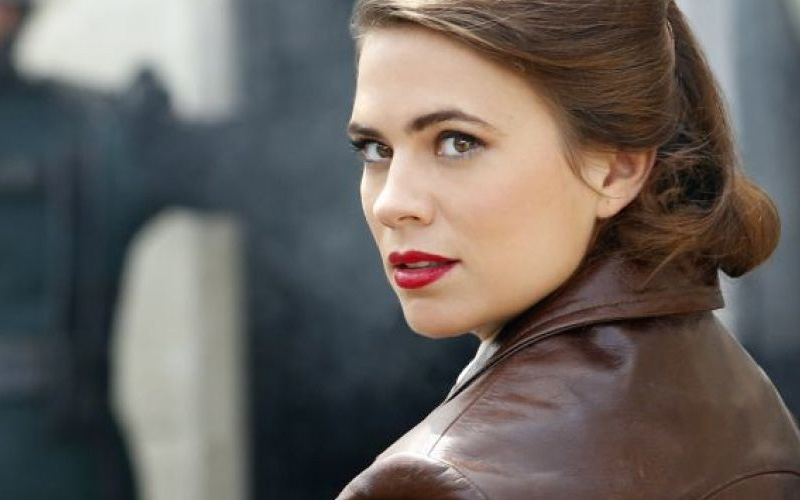 Hayley Atwell brown leather jacket Agent Carter