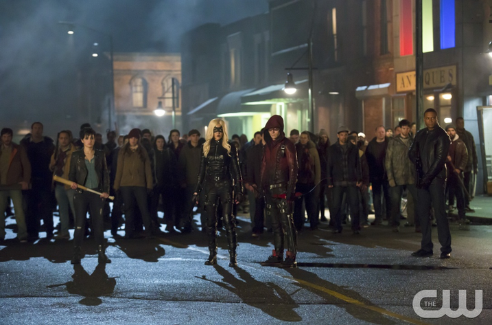 Arrow Uprising -- Sin, Black Canary, Arsenal, Diggle