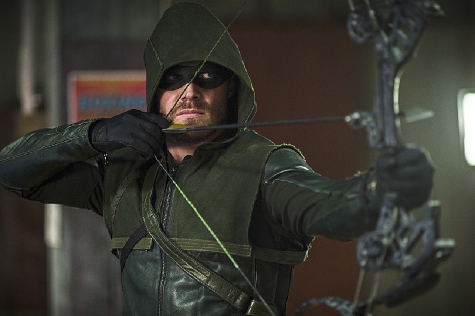 Arrow drawing his bow