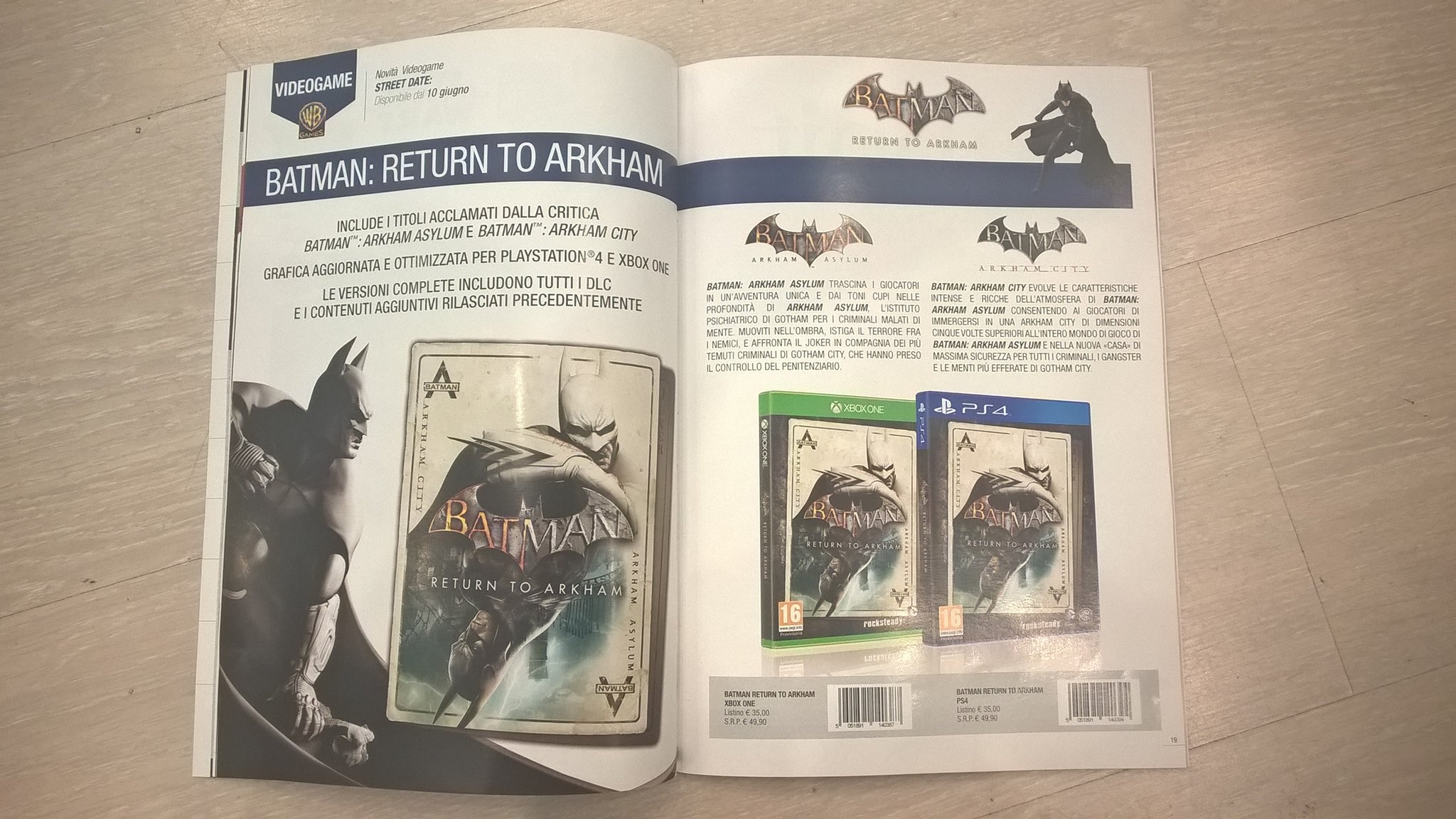 Batman Return to Arkham Italian magazine image