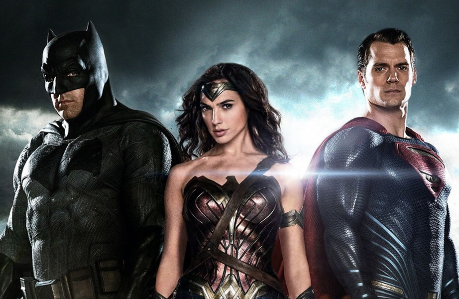Batman, Wonder Woman, and Superman pose for 'Batman v Superman' promo, coming to Blu-ray
